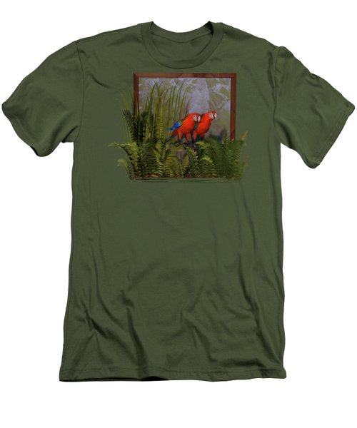 Macaws Men's T-Shirt (Athletic Fit)