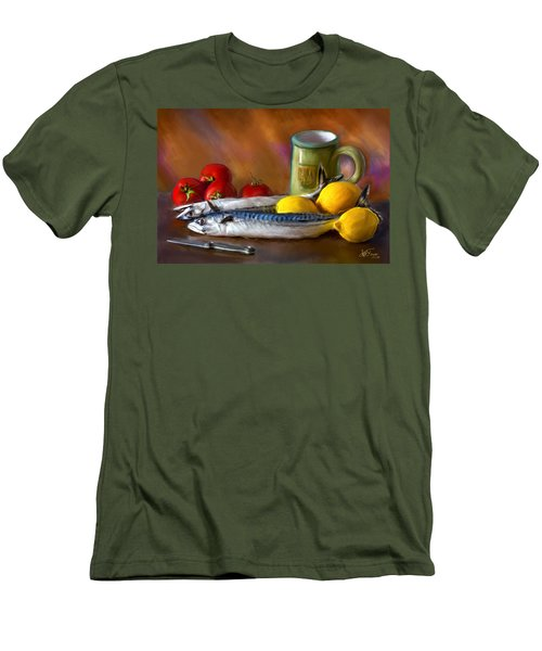 Mackerels, Lemons And Tomatoes Men's T-Shirt (Athletic Fit)