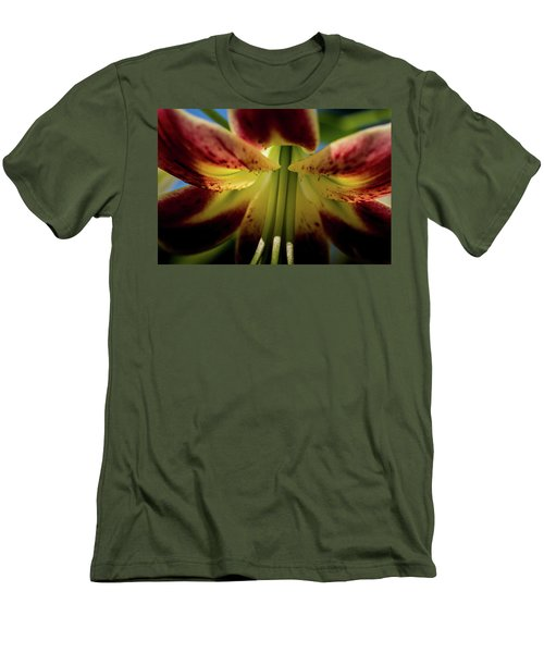 Men's T-Shirt (Slim Fit) featuring the photograph Macro Flower by Jay Stockhaus