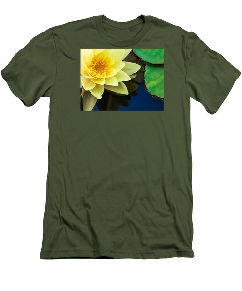 Macro Image Of Yellow Water Lilly Men's T-Shirt (Athletic Fit)