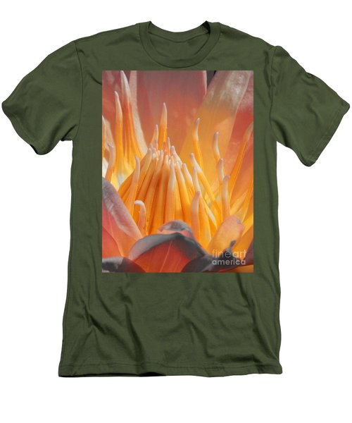 Men's T-Shirt (Slim Fit) featuring the photograph Macro Water Lily by Chad and Stacey Hall
