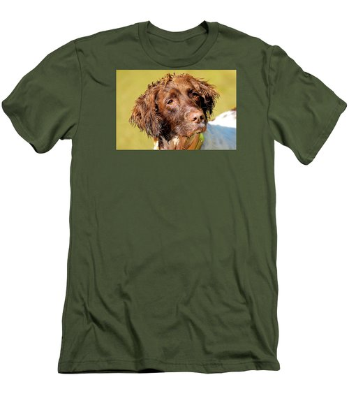 Maggie Head Photo Art Men's T-Shirt (Slim Fit) by Constantine Gregory