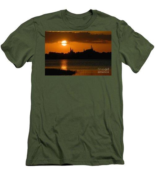 Magic Kingdom Sunset Men's T-Shirt (Slim Fit) by David Lee Thompson