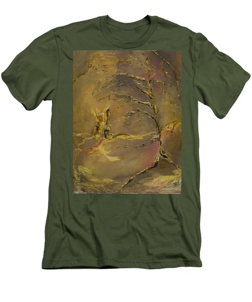 Men's T-Shirt (Slim Fit) featuring the mixed media Magic by Nadine Dennis