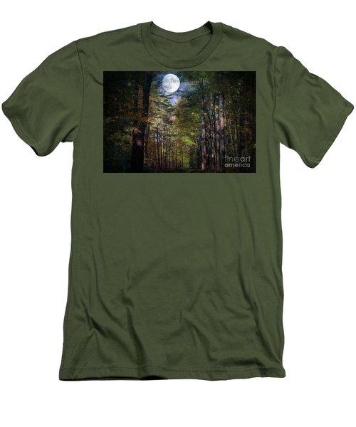 Magical Moonlit Forest Men's T-Shirt (Athletic Fit)