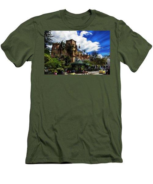 Men's T-Shirt (Slim Fit) featuring the photograph Magnificent Center Of Cuenca, Ecuador IIi by Al Bourassa