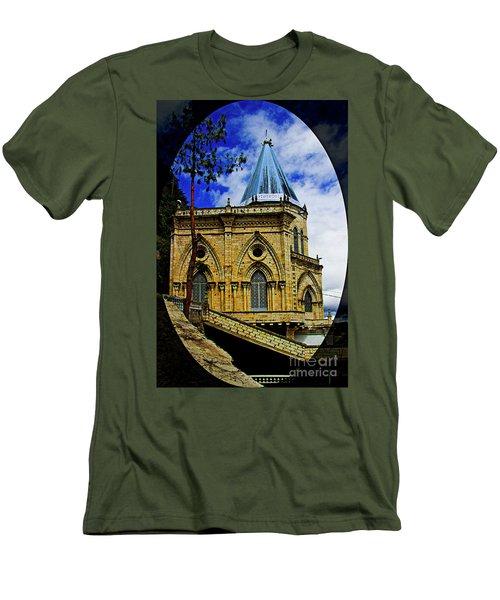 Men's T-Shirt (Slim Fit) featuring the photograph Magnificent Church Of Biblian by Al Bourassa