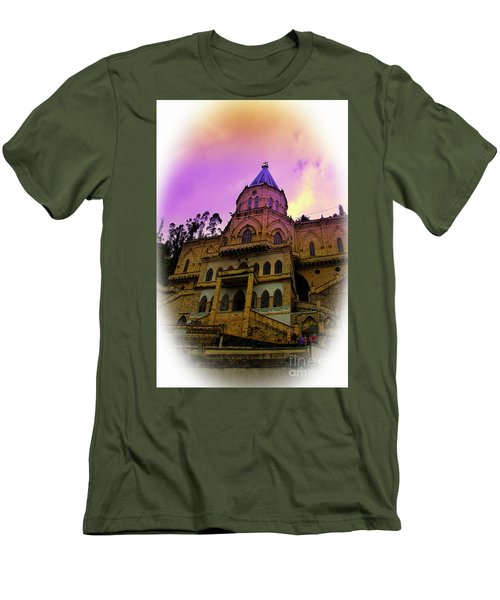 Men's T-Shirt (Slim Fit) featuring the photograph Magnificent Church Of Biblian II by Al Bourassa
