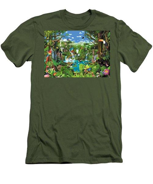 Magnificent Rainforest Men's T-Shirt (Athletic Fit)