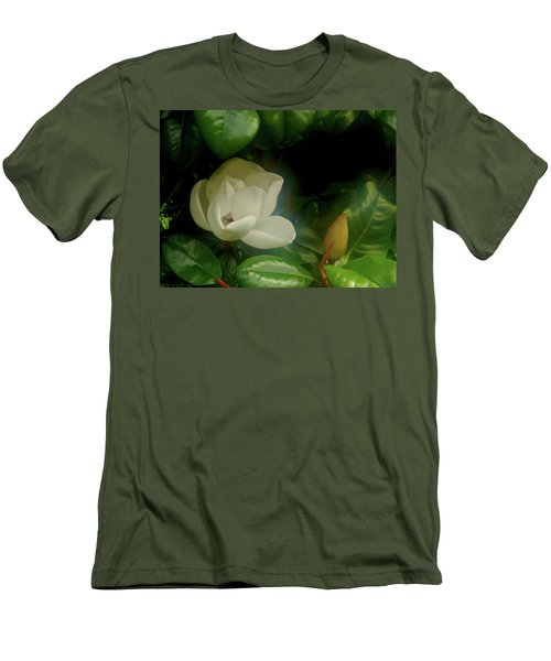 Magnolia Men's T-Shirt (Slim Fit) by Evelyn Tambour