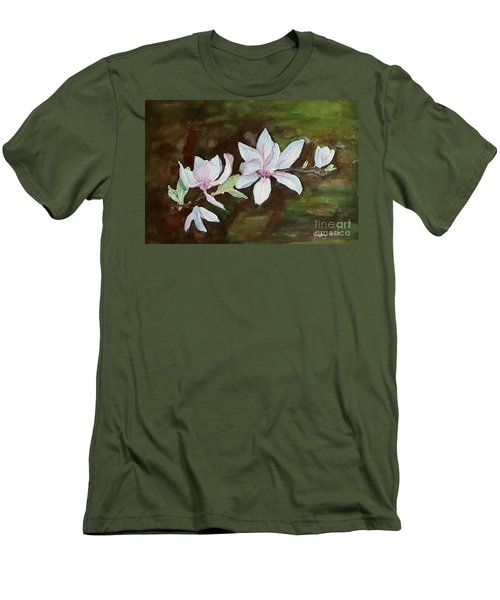 Magnolia - Painting  Men's T-Shirt (Athletic Fit)