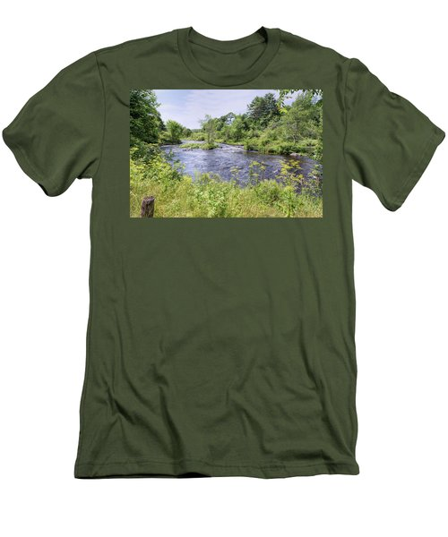 Men's T-Shirt (Athletic Fit) featuring the photograph Maine Beauty by John M Bailey