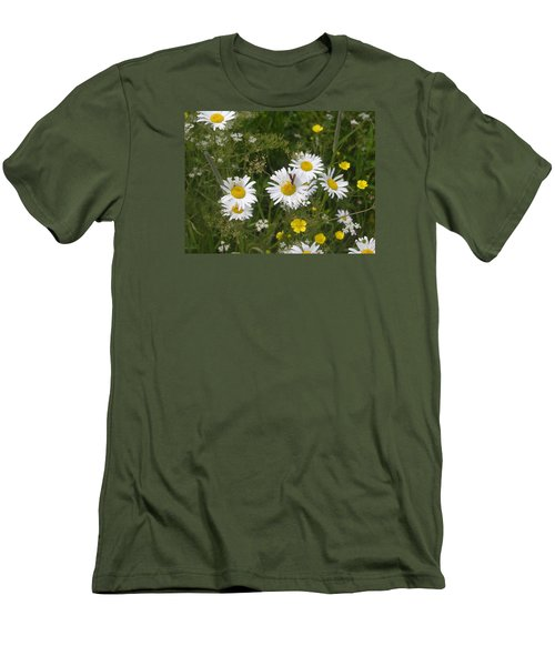 Maine Flowers Men's T-Shirt (Slim Fit) by Helen Haw
