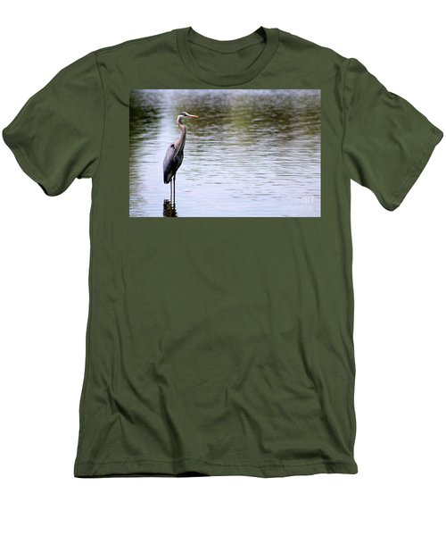 Majestic Great Blue Heron Men's T-Shirt (Athletic Fit)