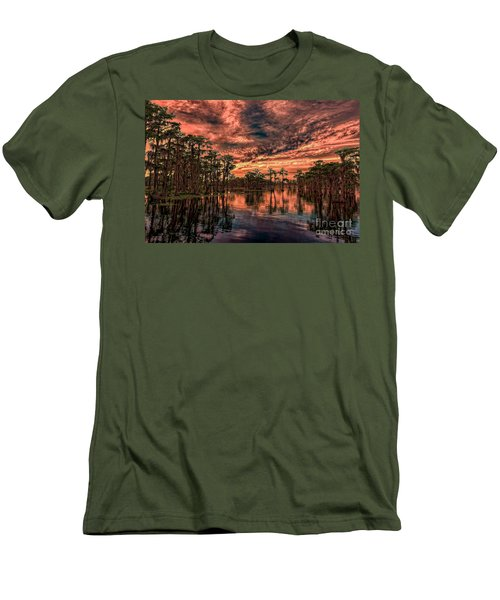 Majestic Cypress Paradise Sunset Men's T-Shirt (Athletic Fit)