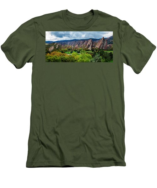 Men's T-Shirt (Slim Fit) featuring the photograph Majestic Foothills by Kristal Kraft