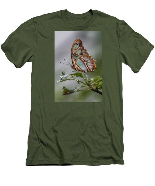 Malachite Butterfly Profile Men's T-Shirt (Slim Fit) by Patti Deters