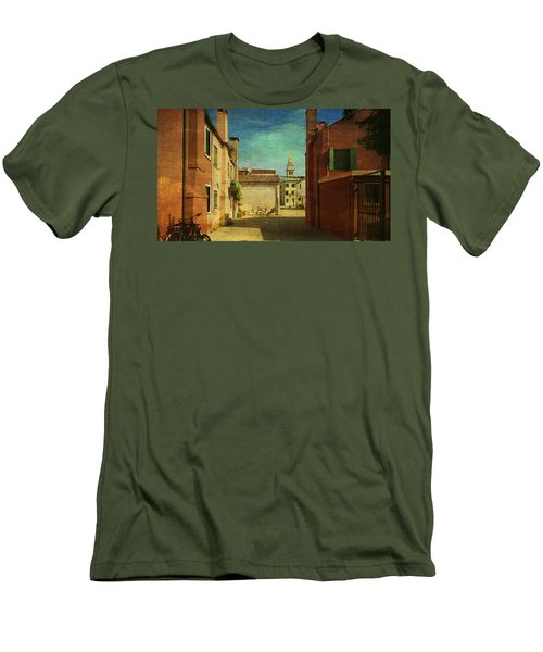 Men's T-Shirt (Slim Fit) featuring the photograph Malamocco Perspective No3 by Anne Kotan