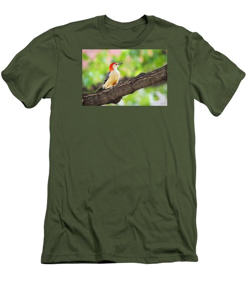 Male Red-bellied Woodpecker Men's T-Shirt (Athletic Fit)