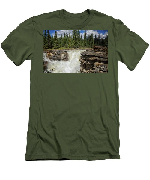 Men's T-Shirt (Slim Fit) featuring the photograph Maligne Canyon by Patricia Hofmeester