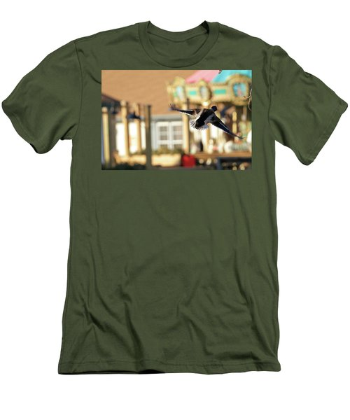 Mallard Duck And Carousel Men's T-Shirt (Athletic Fit)
