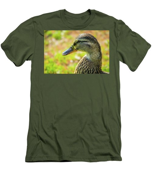 Mallard Portrait - Female Men's T-Shirt (Athletic Fit)