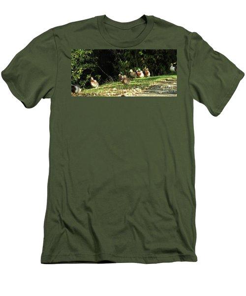 Mallards Walk Men's T-Shirt (Slim Fit) by Kim Tran