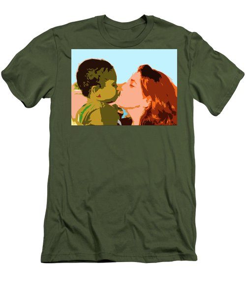 Mama And Me Men's T-Shirt (Slim Fit) by Josy Cue