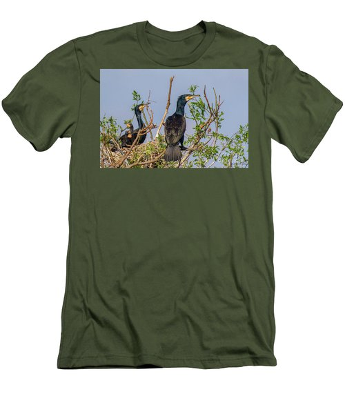Mama, Papa And Kids - Danube Delta Men's T-Shirt (Slim Fit) by Jivko Nakev