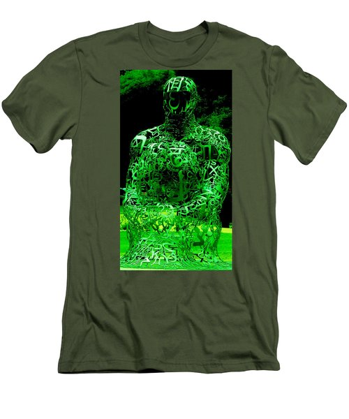 Man In Green Men's T-Shirt (Athletic Fit)