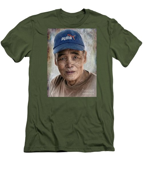 Man In The Cap Men's T-Shirt (Athletic Fit)