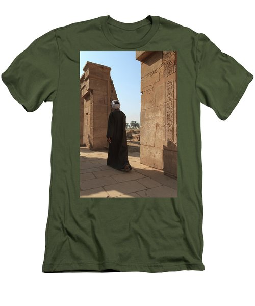 Men's T-Shirt (Athletic Fit) featuring the photograph Man In The Temple by Silvia Bruno