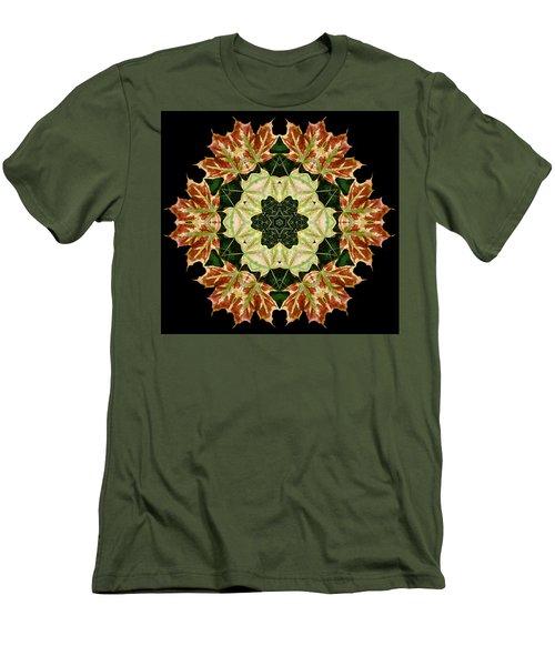Mandala Autumn Star Men's T-Shirt (Athletic Fit)