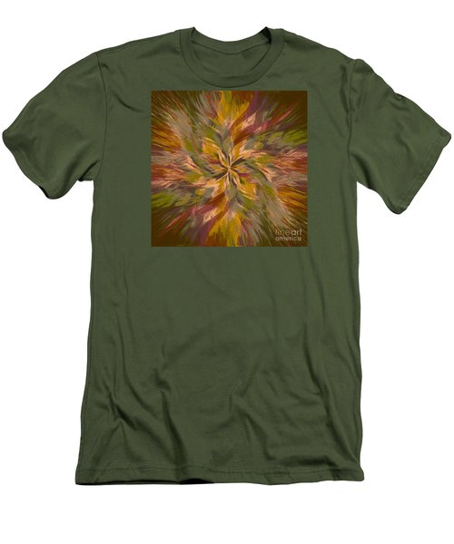 Men's T-Shirt (Slim Fit) featuring the photograph Mandala Twirl 05 by Jack Torcello