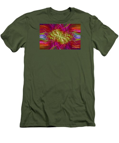 Men's T-Shirt (Slim Fit) featuring the photograph Mandala Swirl 02 by Jack Torcello