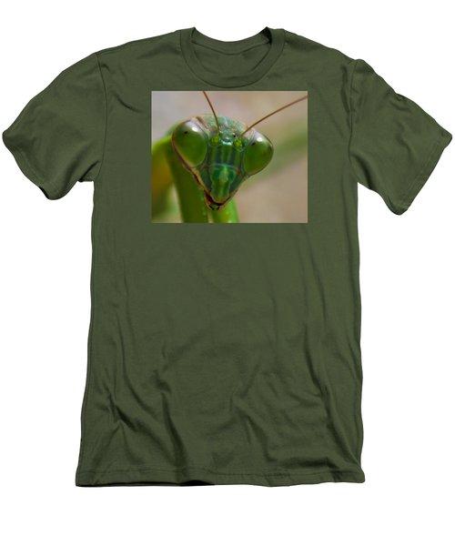 Mantis Face Men's T-Shirt (Slim Fit) by Jonny D