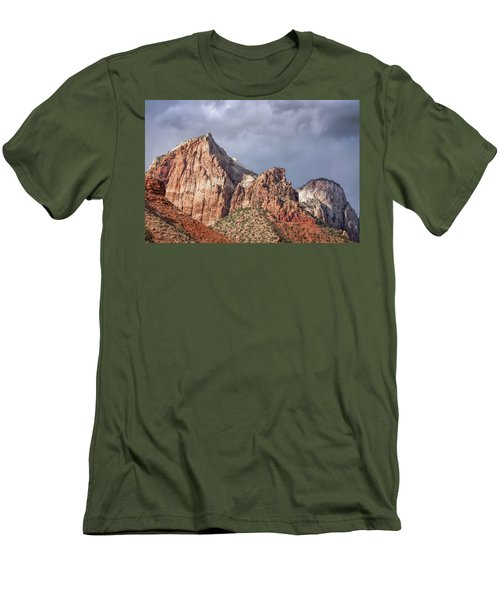 Men's T-Shirt (Athletic Fit) featuring the photograph Many Splendored Zion by John M Bailey