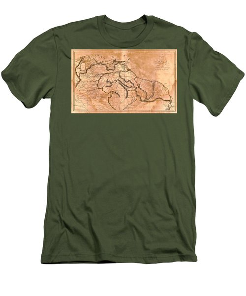 Map Of Caracas 1814 Men's T-Shirt (Slim Fit) by Andrew Fare