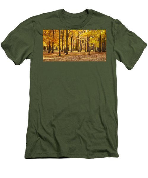 Men's T-Shirt (Slim Fit) featuring the photograph Maple Glory by Francesa Miller