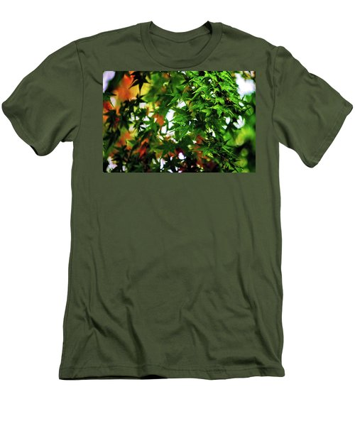 Maple In The Mist Men's T-Shirt (Slim Fit) by Mark Lucey