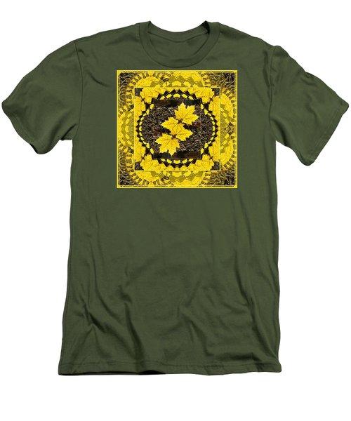 Maple Leaf Design Men's T-Shirt (Slim Fit) by Joy Nichols