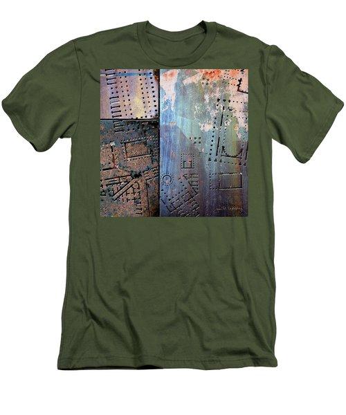 Maps #9 Men's T-Shirt (Slim Fit) by Joan Ladendorf