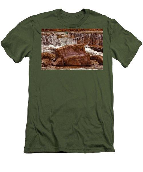 Marble Creek Shut-ins Men's T-Shirt (Slim Fit) by Robert Charity