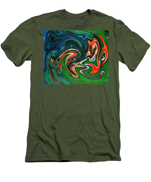 Marble Texture Men's T-Shirt (Athletic Fit)