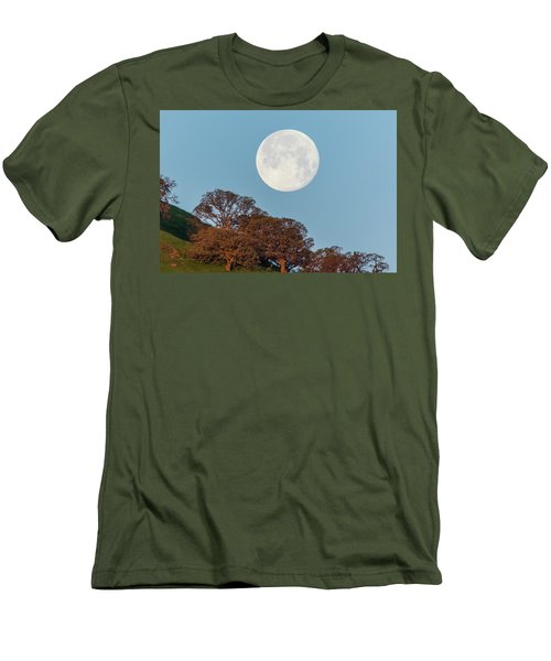 Men's T-Shirt (Slim Fit) featuring the photograph March Moonset by Marc Crumpler