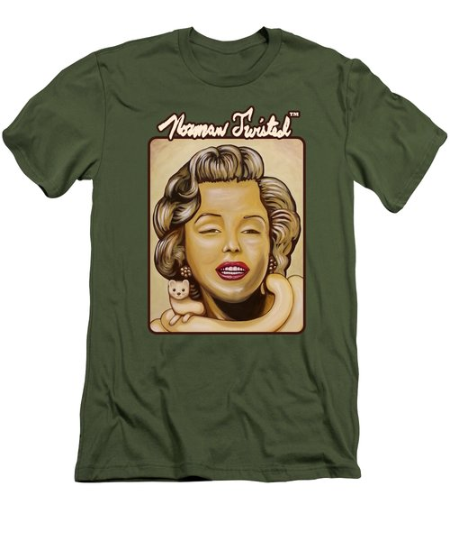 Marilyn In Gold Nt Men's T-Shirt (Slim Fit) by Norman Twisted