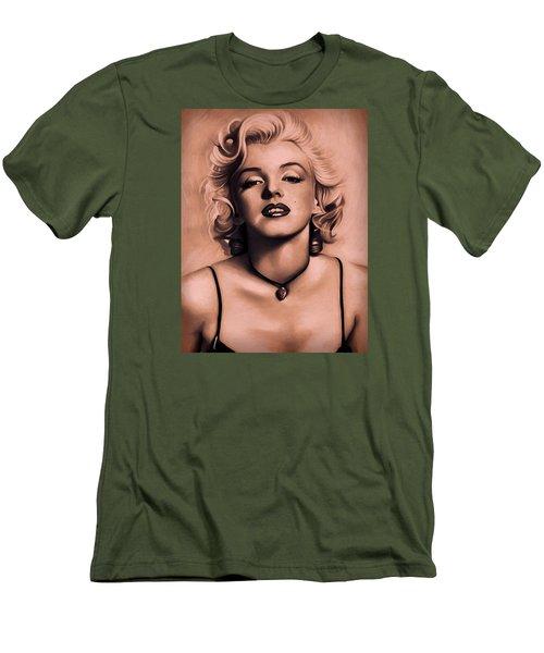 Marilyn Monroe Men's T-Shirt (Slim Fit) by Louis Ferreira