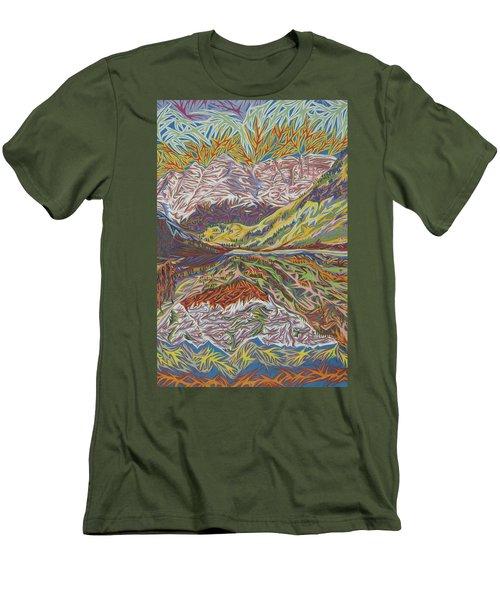 Maroon Bells Men's T-Shirt (Slim Fit) by Robert SORENSEN