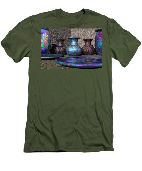 Marrakesh Open Air Market Men's T-Shirt (Slim Fit) by Lyle Hatch