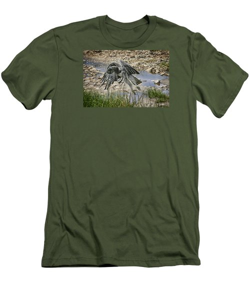 Men's T-Shirt (Slim Fit) featuring the photograph Martial Eagle by Gary Hall